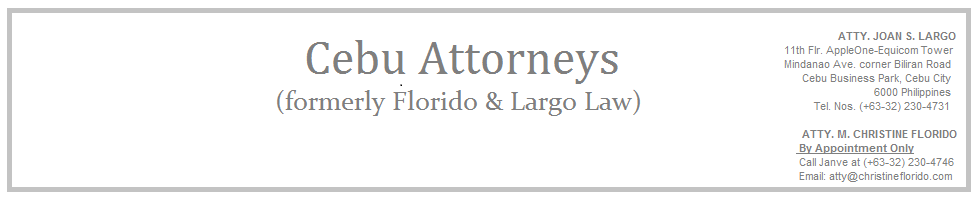 Florido Law Offices (formerly Florido & Largo Law Offices)